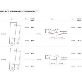 Magura QM 50 Adapter Flatmount Vorne F160/180